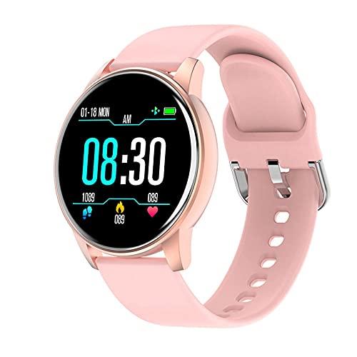 LKXL Smartwatches Presión Arterial multideportiva del sueño de la Pantalla Redonda del Reloj Elegante