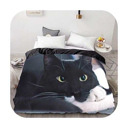 happy Boutique Bettbezug 3D-Flauschig / Bettdecke / Decke für Doppelbett, König / 220 x 240 / 200 x 200 cm, Katze Endormi-Pet-9-155 x 215 cm, 1 Stück