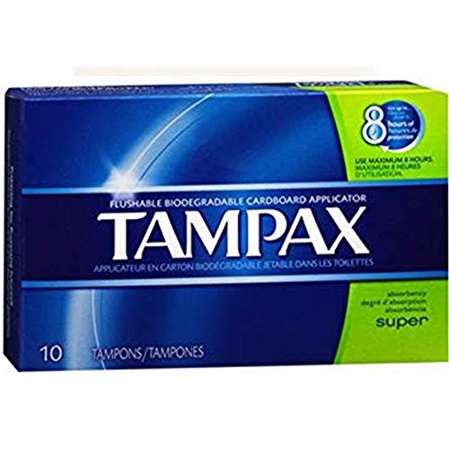 Tampax Tampons hygiéniques - Absorptivité super - 10/paquet