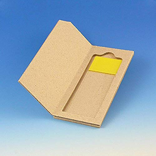 Globe Scientific 513001 Cardboard Slide Mailer for 1 Slide (Case of 100)