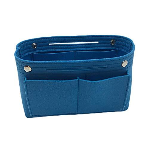 Foryheart Sac à main portable en feutre imperméable multifonction grande capacité Rose, bleu (Bleu) - 3ZPAUS7780