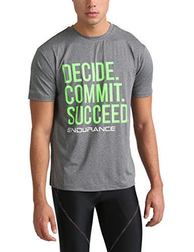 Ultrasport Endurance Spilsby T-Shirt Homme, Gris Foncé/Mélange, Medium