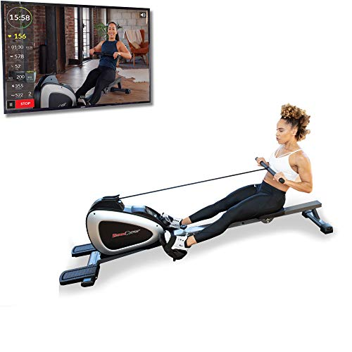 Fitness Reality 1000 Plus Bluetooth Magnetic Rower Rowing Machine with Extended Optional Full Body Exercises and Free App