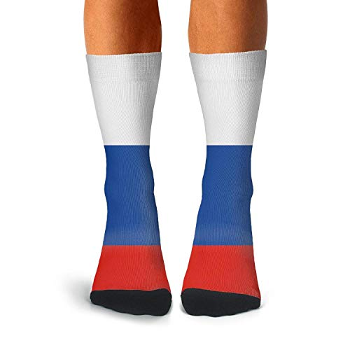 Althetic Compression Crew Socks for Men Russian Flag Running Cushion Sock