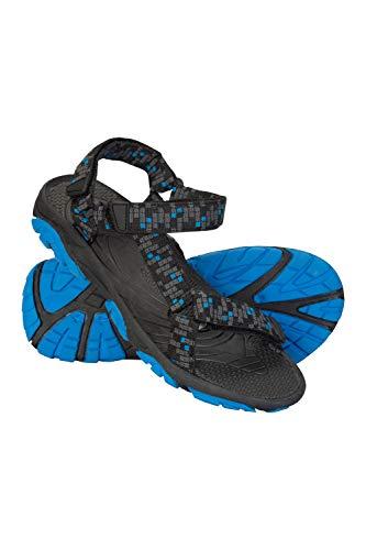 Mountain Warehouse Tide Sandalen für Kinder - Neoprenfutter, Laufsohle aus 100% Gummi, Flipflops mit Klettverschluss - Für Sommerspaziergänge Schwarz Jet 33