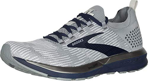Brooks Mens Ricochet 2 Running Shoe - Grey/Navy - D - 11.5