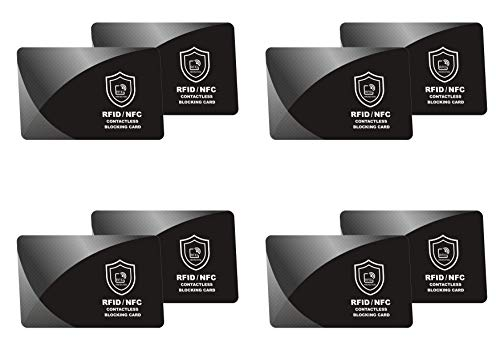 2 x RFID Blocking Card | NFC Contactless Cards Protection | Protect Your Entire Wallet | No More Need for Single Sleeves | for Men or Women, Credit Card Holder, Wallets or Passport
