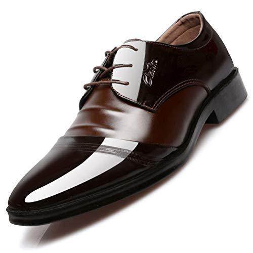 Feidaeu Herren Business Schuhe Mode Reifen Leder Spitzen Nähen Spitze Hochzeit Schuhe Oxford Schuhe Arbeitsschuhe