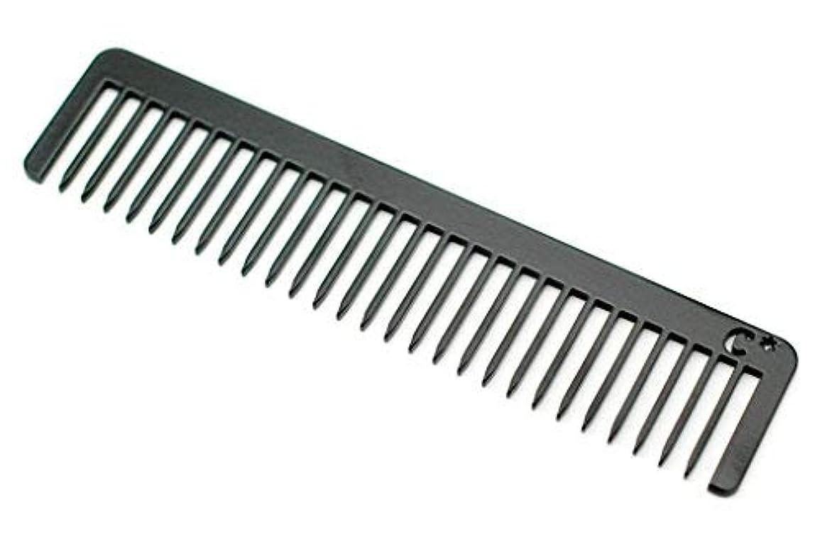 不健康ウェイトレスアブストラクトChicago Comb Long Model No. 5 Jet Black, 5.5 inches (14 cm) long, Made in USA, wide-tooth comb, ultra smooth coated stainless steel, unbreakable, perfect for long, curly, or thick hair, men & women [並行輸入品]