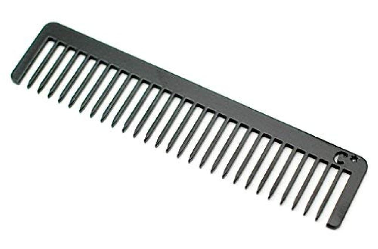 仕様期限ハントChicago Comb Long Model No. 5 Jet Black, 5.5 inches (14 cm) long, Made in USA, wide-tooth comb, ultra smooth coated stainless steel, unbreakable, perfect for long, curly, or thick hair, men & women [並行輸入品]