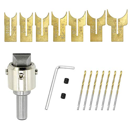 Set di Falegnameria Buddha Perline Router Ball Blade Drill Bit Fresa, Wooden Bead Maker Beads Drill Bit 14-25mm (15pezzi)