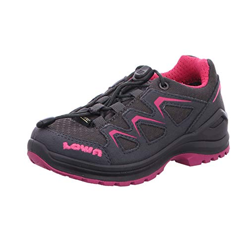 Lowa 350128 9782, Chaussures Montantes pour Fille - Gris - Graphit - Beere, 39 EU