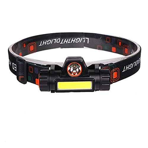 Linterna Frontal XP-G Q5 Sensor Head Lámpara de cabeza Lámpara de cabeza a prueba de agua 2500lm LED de mazorca incorporada en USB recargable 18650 Batería de la batería Luz de trabajo 10W