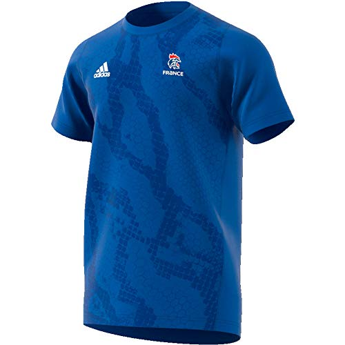 adidas Herren French Handball Federation Training Trikot, Blue/White, S