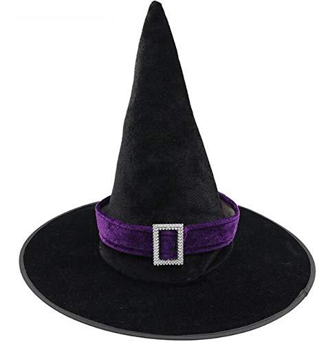 Uteruik Sombreros de Bruja de Halloween – Accesorio de Disfraz de Bruja para Halloween Fiesta de Navidad