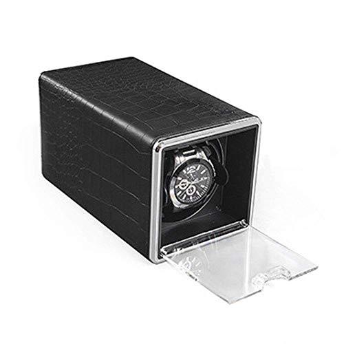 JYTFZD HAOYANG-Caja de Reloj- Reloj Winder Solo Reloj mecánico para Relojes automáticos, Motor súper silencioso, Adaptador de batería y AC/HDDSBYBQ-741