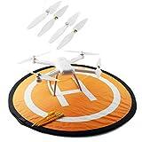HELEISH 4PCS CW/CCW hélice for quadricoptère RC Version Mi Drone 4K Pièces d'assemblage de Bricolage
