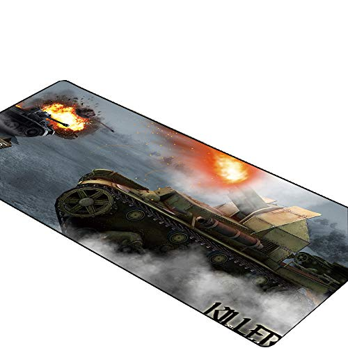 Tank oorlog 80x40cm Muis Pad Grote Gamer Spelen Matten Computer Gaming Accessoires XL Grote Mousepad Toetsenbord Rubber Games pc Bureau Pad 300X700X2MM A