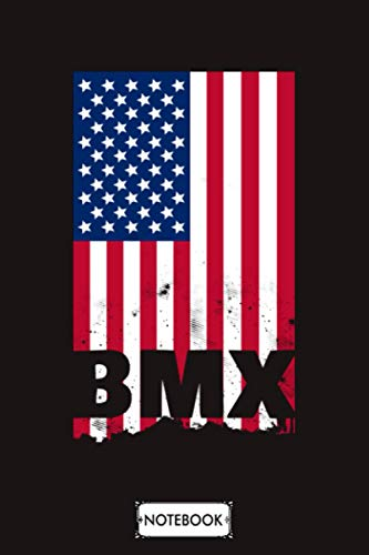 Bmx American Flag Vintage Notebook: 6x9 120 Pages, Planner, Lined College Ruled Paper, Matte Finish Cover, Diary, Journal