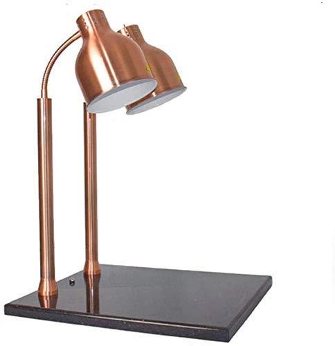 PIVFEDQX Lámpara para Calentar Alimentos Lámpara para Calentar Alimentos Lámpara para Calentar Alimentos Lámpara para Pizza Lámpara de Calor infrarrojo (Color: Latón)