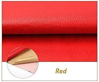 レザー 合成皮革 貼るレザー 赤 1.38mx0.5m-50m