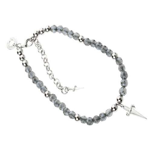 Paciotti - Pulsera rosario negro de plata