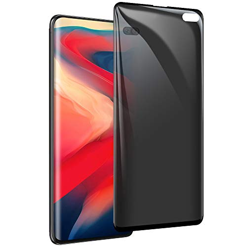 Galaxy S10 Plus Privacy Screen Protector, HD [9H Hardenss] [Easy to Install] [3D Full Coverage] Tempered Glass Protective Film, for Samsung Galaxy S10 Plus / S10+