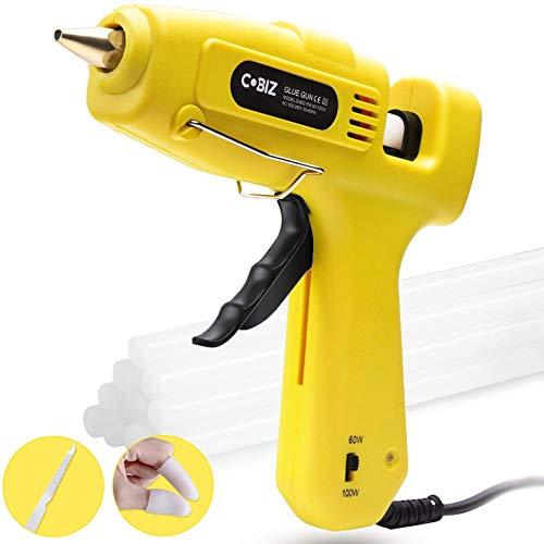Hot Glue Gun, Cobiz Full Size 60/100W Dual Power High Temp