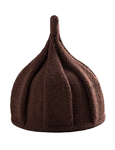 Letuwj Babies Beanie Knitted Acorns Caps Sharp Pointed Cap Light Coffee One Size