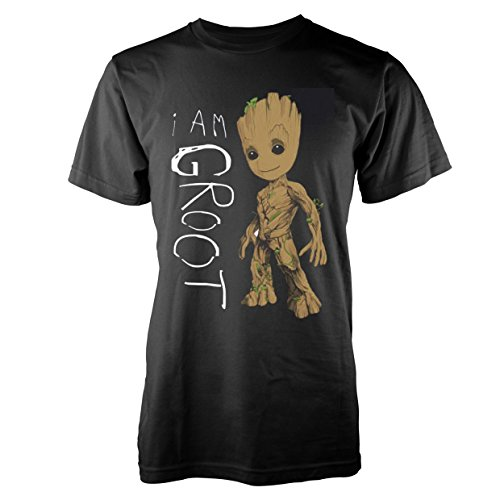 Tops, T-Shirts & Hemden T-Shirts Marvel Jungen Guardians of The Galaxy I Am Groot Scribbles T-Shirt Absolute Cult