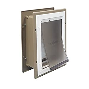 PetSafe Wall Entry Aluminum Pet Door with Telescoping Tunnel, Pet Door for Dogs and Cats, Medium, for Pets Up to 40 Lb.