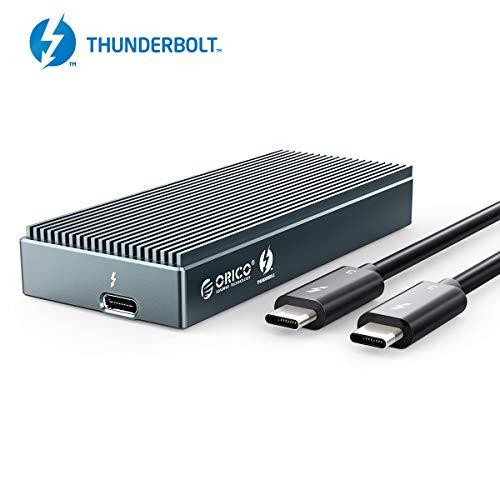ORICO Thunderbolt 3 M.2 NVME SSD Externes Gehäuse mit Übertragungsrate bis zu 40Gbps, Tragbar Festplattengehäuse Adapter für PCIe M-Key SSD 2280, UASP-Unterstützung