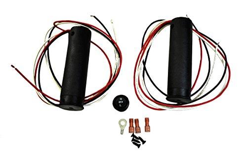 "Raider, SM-08255, Heated Grips Snowmobile ATV Electric Handwarmer Kit for 7/8"" Bars"