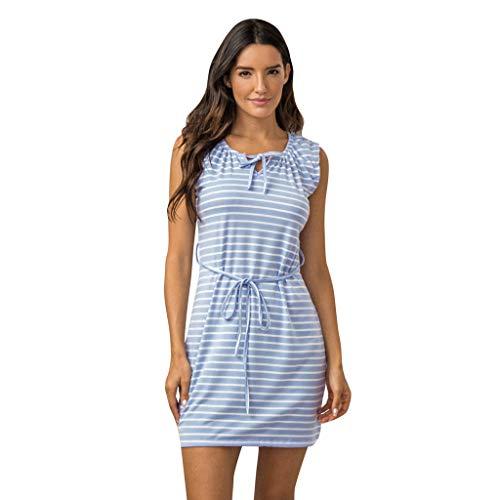 Elecenty Damen Hemdkleid T-Shirt Blusekleid T-Shirtkleid Sommerkleid Kleider Frauen Rundhals Kurzarm Mode Kleid Minikleid Kleidung (XL, Rosa)