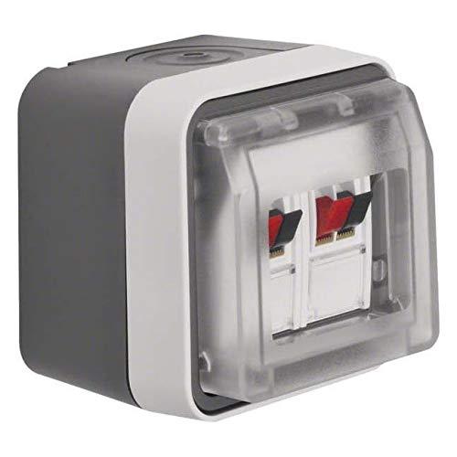 Berker Lautsprecherdose 11963515 Stereo lichtgrau W.1 Einsatz/Abdeckung für Kommunikationstechnik 4011334404637