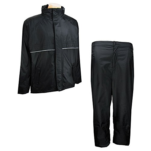 Read About The Weather Apparel Co Golf Rain Suit Black X-Small