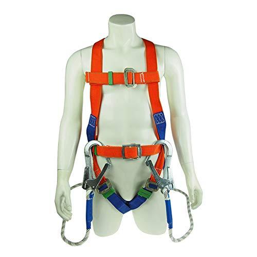 LAIABOR Klettergurte für Sportklettern Baumklettern Feuerwehr Outdoor Schutz Gürtel zum Klettern für Frauen und Männer,Orange