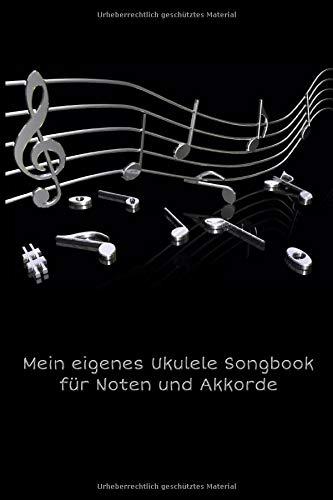 Mein eigenes Ukulele Songbook für Noten und Akkorde: Tab Block mit Akkorddiagrammen und leeren Tabulatorlinien zum Selberschreiben für Songwriter - ... beim komponieren eigener Lieder für Ukulele