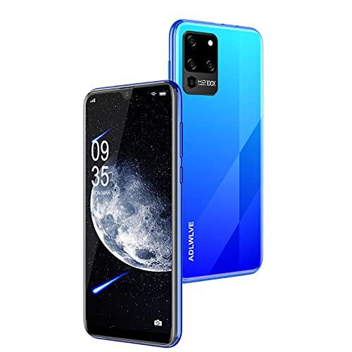 Teléfono Móvil Libres 4G, Android 9.0 Smartphone Libre, 6.3' Smartphone Barato 3GB RAM, 32GB / 64GB ROM, Dual SIM, 5MP+8MP, 4600mAh, Quad Core Smartphone Libre Face ID Movil Barato (Azul)