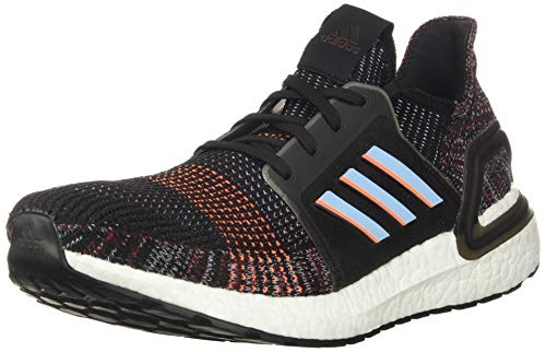 adidas Men's Ultraboost 19 Running Shoe, Black/Glow Blue/Black, 5 UK