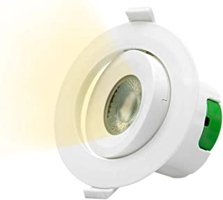 Pack 5 Foco Downlight LED 5W Aro Plateado Calido 3000k /Ø85mm ONSSI LED