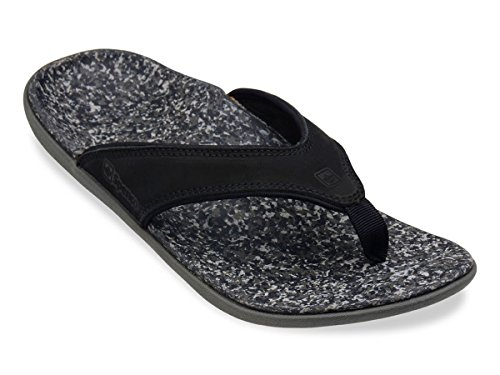 Spenco Men's Yumi Leather Sandals Black 9 & Headband Bundle