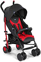 Chicco Echo Stroller with Bumper Bar, Stroller for Newborn Babies and Toddlers, 0m+, Pram for Boys and Girls (Red, Scarlet)
