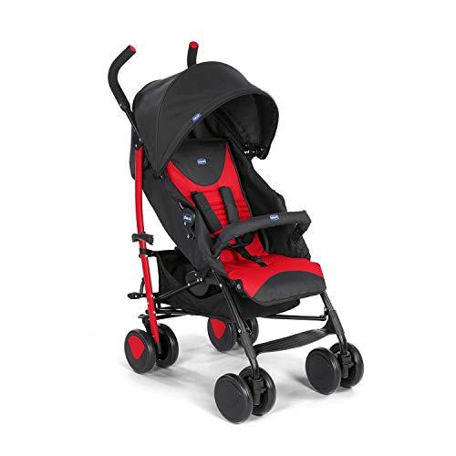 Chicco Echo Leichter Zusammenklappbarer Kinderwagen von 0 Monaten bis 22 kg, Kompakter Kinderbuggy mit Frontbügel, Schlafposition, Regenschirmverschluss, Verstellbarer Sonnenschirm