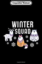 Composition Notebook: Winter Squad Polar Bear Deer Red Fox Gift Journal/Notebook Blank Lined Ruled 6x9 100 Pages
