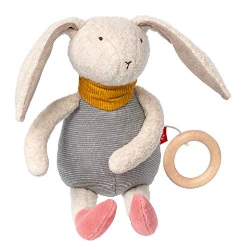 Sigikid- Filles et Garçons, Animal en Peluche Lapin Signature Collection, Jouets pour Bébés Recommandé à partir de 0 Mois, 39025, Rose, Gris