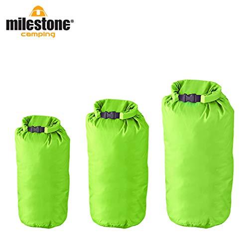 Milestone Camping Sacs étanches (Pack de 3) -Verts