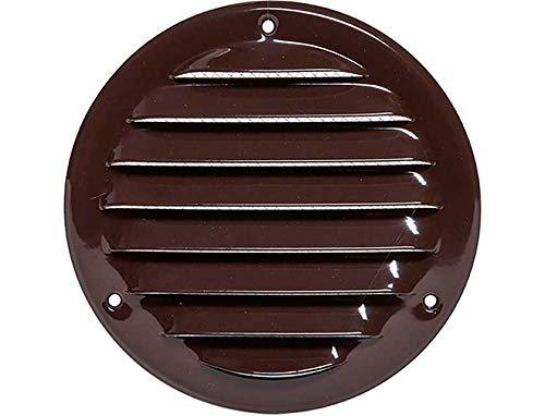 Haeusler-Shop - Rejilla de ventilación (100 mm de diámetro, 140 mm), color marrón