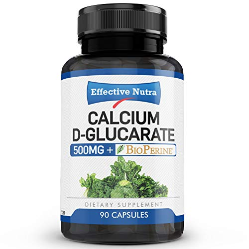 Calcium D-Glucarate 500mg| Natural Estrogen Blocker, Liver Detox Cleanse & Hormone Balance Supplement for Women and Men| Supports Menopause Relief | USA Made| 90 Vegan Capsules