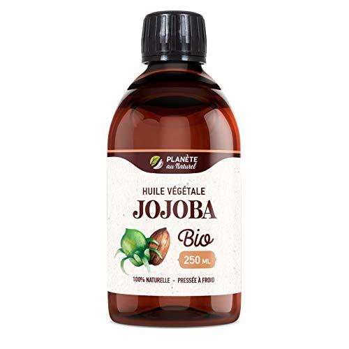 Huile de JOJOBA Bio - 250ml - Cosmos Organic - Planète au Naturel - Pure, Naturelle et Pressée à froid - Cheveux, Corps, Peau